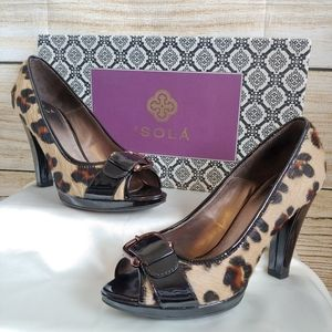 ISOLA Rouge Leopard Printed Heels size 10
